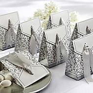 gunst doos met zilveren lint (set van 12)