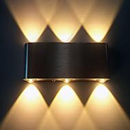6W אור הקיר מודרני הוביל עם פיזור אור עיצוב Sci-Fi 90-240v