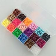 ca. 5400pcs 18 Mischfarbe 5mm Bügelperlen gesetzt Hama Perlen DIY-Puzzle EVA-Material safty für Kinder (set b, 18 * 300pcs)