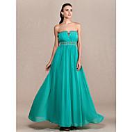 Formal Evening/Prom/Military Ball Dress Plus Sizes Sheath/Column Strapless Ankle-length Chiffon