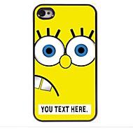 מקרה עיצוב מתכת צהוב מקרה קריקטורה אישית עבור 4 / 4S iPhone