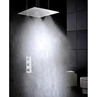 ברז למקלחת - עכשווי - תרמוסטטי / מקלחת גשם / שפורפרת יד כלולה - Brass (כרום)