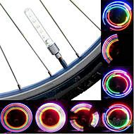 Luzes de Bicicleta luzes da roda Luzes de Tampa de Válvula LED Ciclismo pilhas Lumens Bateria Ciclismo