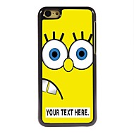 personalizado cartoon caso design amarelo caixa de metal para iphone 5c