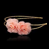 Women's/Flower Girl's Cubic Zirconia/Silk Headpiece - Wedding/Special Occasion/Outdoor Headbands