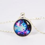 Women's Galaxy Star Time Gemstone Necklace