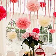 8 inch papieren bloem partij decoraties - set van 4 (meer kleuren)