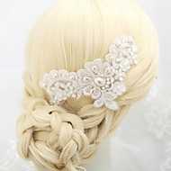 Women's/Flower Girl's Lace/Alloy/Imitation Pearl Headpiece - Wedding/Special Occasion/Outdoor Barrette