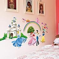 doudouwo® duvar çıkartmaları duvar çıkartmaları, pepole infante ve prenses kar beyaz pvc duvar sticker