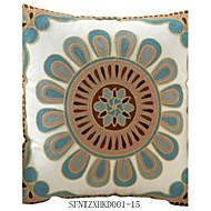 "createforlife® 18 ""totens floral spandex capa almofadas decorativas"