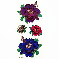 Waterproof Butterfly and Peony Temporary Tattoo Sticker Tattoos Sample Mold for Body Art(18.5cm*8.5cm)