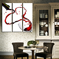 Stretched Canvas Art Romantic From Red Wind Set of 3