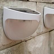 mlsled® 1.2w 6 Mini LED / lampe murale blanche imperméable à l'eau à l'énergie solaire mur / jardin - blanc