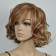 Women's  Brown and Blonde Mixed Curly Short  Wig