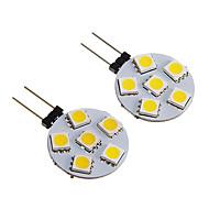 G4 1W 6x5050SMD 60-80LM 3000K Warm White/White Light LED Bulb (12V 2PCS)