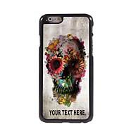 персонализированные случай череп и цветок дизайн корпуса металл для Iphone 6 плюс