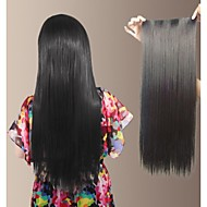 Natural Long Straight Synthetic and Clip in Hair Extension with 5 clips(More Colors)