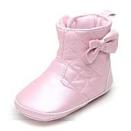 Rosa / Elfenbensfarvet - Baby Sko - Hverdag - Læder - Støvler