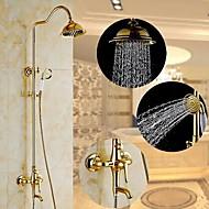 montagem na parede ti-pvd tradicional duas alças chuveiro torneira