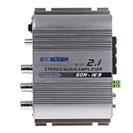 SUOER SON-169 300W Multifunction Stereo Car Audio Power Amplifier (Silver)