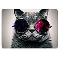 v pohodě kočka celoplošný design ochranné plastové pouzdro pro 11-palcový / 13-palcový nový MacBook Air