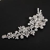 placas de platina prata florescente headpieces casamento