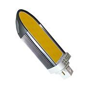 G24 LED Spotlight S19 COB 1100 lm Warm White Dimmable / Decorative AC 220-240 V