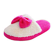 Women's Shoes Round Toe Flat Heel Velvet Slippers Shoes