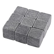 conjunto de nove uísque pedra de gelo cúbico pedra vinho gelado com bolsa, 10 * 10 * 2cm