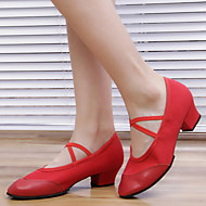 Modern Dance Women's Flats Heel Real Leather Dance Shoes (More Colors)