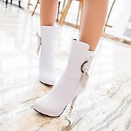 Women's Shoes Round Toe Stiletto Heel Mid-Calf Boots with Bowknot More Colors available
