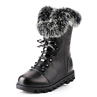 Girls'Shoes Comfort Fashion Boots Low Heel Mid-Calf Boots with Lace-up and Zipper More Colors available