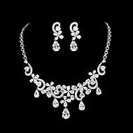 Women's Platinum Jewelry Set Cubic Zirconia