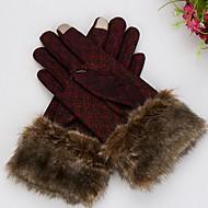 Ekran dotykowy moda damska ciepłe rękawiczki