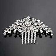 gepersonaliseerde vrouwen / bloem meisje legering / zirconia hoofddeksel - bruiloft / speciale gelegenheid kammen / bloemen