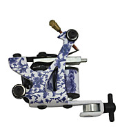 Blue and White Porcelain Classical Tattoo Machine Gun For Lining and Shading