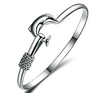 Armbanden Bangles Sterling zilver Dierenvorm Vriendschap Bruiloft / Feest Sieraden Geschenk Zilver,1 stuks