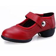 caz kadın ayakkabı düşük topuk gerçek deri nefes dans ayakkabıları (daha fazla renk)