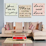 Canvastaulu taide Words Sweet Love Set of 3