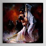 Pintados à mão Pessoas 1 Painel Tela Pintura a Óleo For Decoração para casa