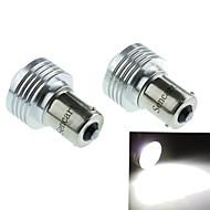 1156 (P21W Ba15s) 3W 3COB 220-260LM 6500-7500K White Light LED Bulb for Car Reversing Lamp (DC12V /2pcs)