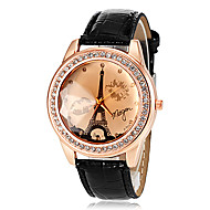 Women's Tower Pattern PU Band Quartz Wrist Watch (Assorted Colors) Cool Watches Unique Watches