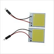 Carking™ T10 / BA9S / Festoon 28mm~40mm 6.7W 48-COB LED White Car Interior Dome Light(2PCS)