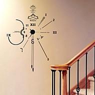 Wall Clock Stickers Wall Decals , DIY Timekeeper Decorative PVC Wall Stickers
