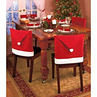 1Pcs Christmas Decorations Santa Red Hat Chair Back Covers