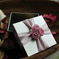 Pink Flower Tinplate Wedding Box-Set Of 12