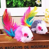 Игрушка для котов Игрушки для животных Интерактивный Игрушка с перьями Мышь Текстиль