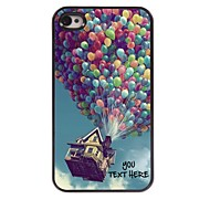 Personalized Phone Case - Balloon Design Metal Case for iPhone 4/4S