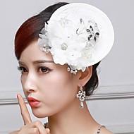 Women's/Flower Girl's Lace/Rhinestone Headpiece - Wedding Fascinators/Flowers/Hats