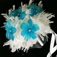 "Wedding Flowers Free-form Bouquets Wedding Leather 4.72""(Approx.12cm)"